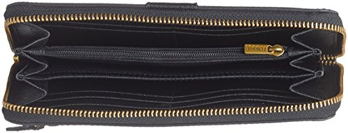 Donna Damen Rfid Large Geldbörse Emma Nero black Portafogli Multi Clutch Zip Fossil 8gWan8