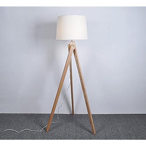 De PiedEn Tissu Salon Lampe Chambre Sur Massif Lytsm Bois Nwnvm08O