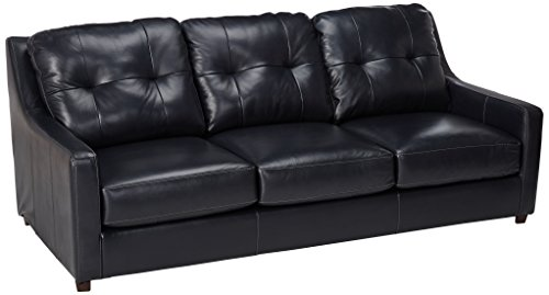 Ashley Furniture Signature Design - O'Kean Upholstered Leather Queen Sleeper Sofas - Contemporary - Navy -