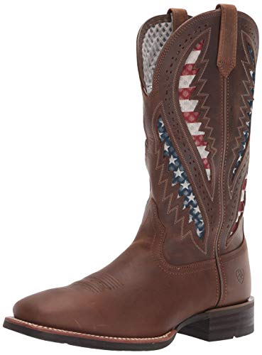 Ariat Men's Quickdraw Venttek Western Boot, Distressed Brown, 12EE ()