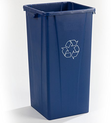 Carlisle 343523REC14 Centurian Tall Square Recycle Waste Container, 23-gal. Capacity, Blue ()
