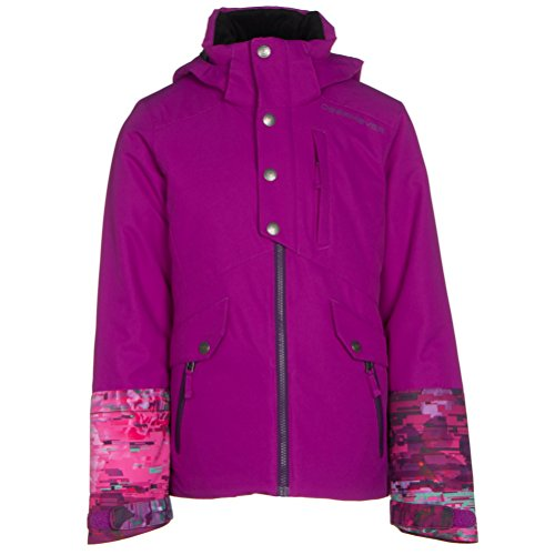 Obermeyer Girls' Kenzie Jacket Violet Vibe Large by Obermeyer