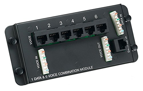Hubbell Wiring Systems Nso6p1dm Netselect Structured Wiring Powder Coated 18 Gauge Steel Combination Network Module  6 Port Telephone  1 Port Data  6 47  Width X 2 95  Height  Black