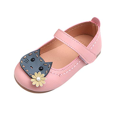 HYIRI Girl's Toddler/Little Kid Ballet Mary Jane Flat Shoes Pink