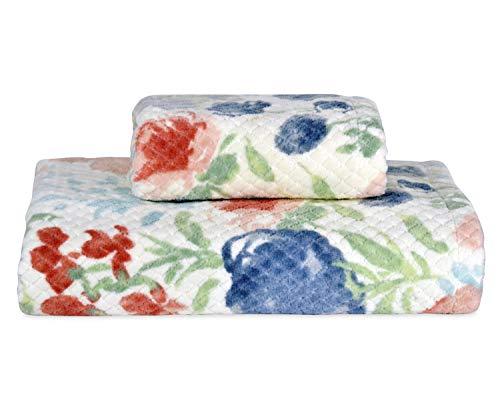 Better Homes & Gardens Tranquil Floral Bath Towel, 1-Piece Bundle Tranquil Floral Hand Towel, (Best Better Homes And Gardens Towels Baths)