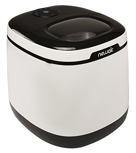 NewAir Portable Countertop Ice Maker Machine, Makes 50 lbs of Ice, White, ()