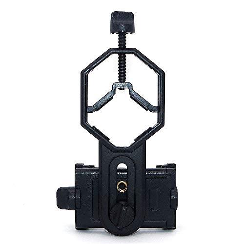 NUZAMAS Spotting Scope Smartphone Adapter, Telescope Phone Mounting - Compatible with Binocular Monocular Spotting Scope Telescope and Microscope, Adjustable