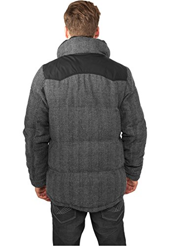 Urban Classics TB891 Material Mixed Winter Jacket Regular Fit Man Size XXL Grey Black
