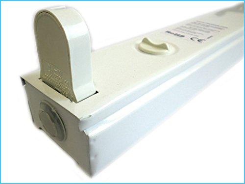 Plafoniere Per Tubi Al Neon : Porta lampada plafoniera singolare per tubo neon t a led da cm