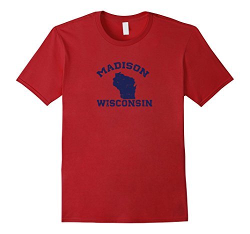 Wisconsin cities distressed, vintage tees - Madison, - Wi Clothing Madison Men's