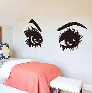 Xbwy Sharp Eyes Pegatina De Pared Accesorios De Decoración Del Hogar Pegatinas Autoadhesivas De Pared Para La Sala De Estar Dormitorio Diy Vinilo Tatuajes De Pared 43X19 Cm