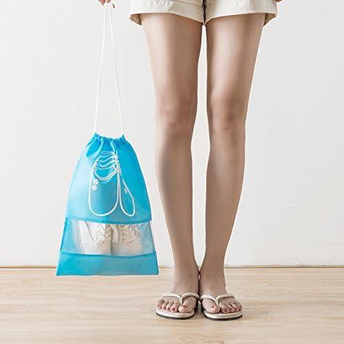 Pink 5XL Transparent Window YAMAMA Portable Travel Shoe Bags Dust-proof Waterproof Storage Bags Organizer Space Saving Storage Bags