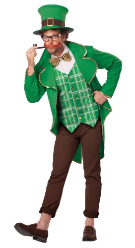California Costumes Men's Lucky Leprechaun Adult, Green/Brown, (Lucky Leprechaun Adult Costumes)