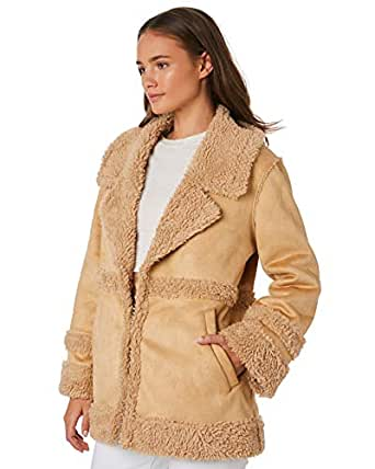 All About Eve Women's Shearling Coat Suede Polyester Brown
