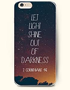 iPhone 6 Case,OOFIT iPhone 6 (4.7) Hard Case **NEW** Case with the Design of let light shine out of darkness 2 corinthans 4:6 - Case for Apple iPhone iPhone 6 (4.7) (2014) Verizon, AT&T Sprint, T-mobile