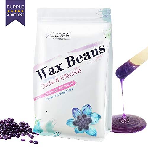 - Hard Wax Beans for Waxing - Painless Wax Beads Depilatory for Wax Warmer Kit - Stripless Brazilian Bikini for Women and Men (1lb, Lavender)