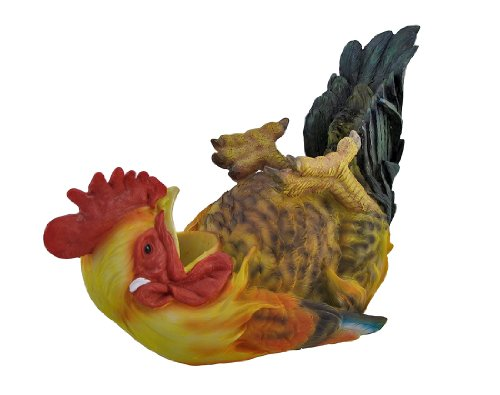 Country Rooster Single Wine Bottle Holder Kitchen Decor
