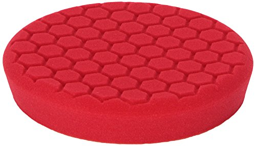 Chemical Guys BUFX_107_HEX - Self-Centered Hex Logic Perfection Micro-Fine Finishing Pad for Sealants and Waxes, Red (7.5 Inch)