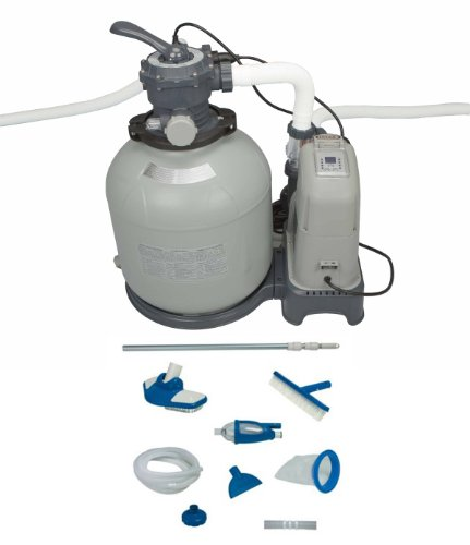 Intex 2650 GPH Sand Filter Pump & Saltwater System Set w/ Deluxe Maintenance Kit Sand System