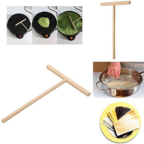 Fiesta Muestre las imágenes en crepé. Esparcidor en forma de T Tortilla Panqueque Forma de madera Rastrillo en forma de...