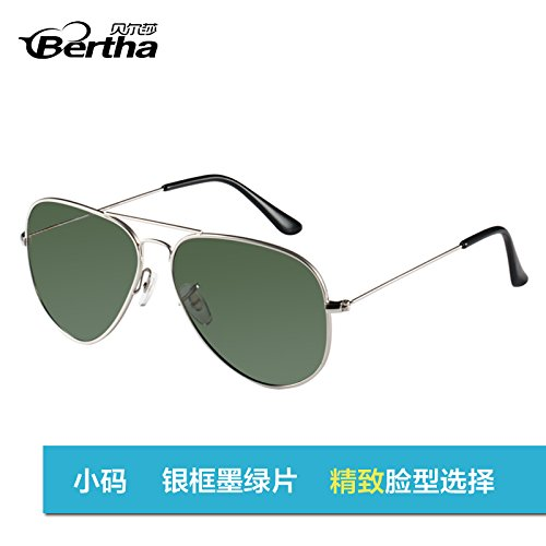 de gafas hombres pionero Box aviador gafas blue Polaroid gafas Gafas Green de moda estándar sol golden box KOMNY de Polaroid de Gafas sol star sol de polarizadas sol femenina The Trumpet Silver TwP6Z