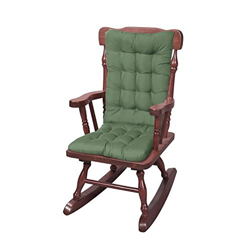 Solid Rocker Set - Green (Pads Chairs Chair For Wooden)