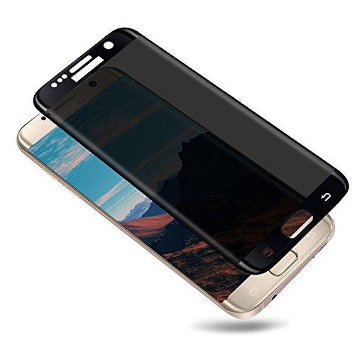 Samsung Galaxy S7 Edge Screen Protector Toptrade S7 Edge Premium Privacy 3D Curved Anti-Spy Tempered Glass Case Friendly Screen Film for Samsung Galaxy S7 Edge (Black)