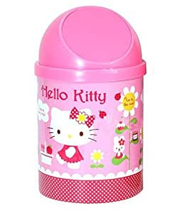 Hello kitty wastebasket sanrio hello kitty pink trash can home kitchen - Pink kitchen trash can ...