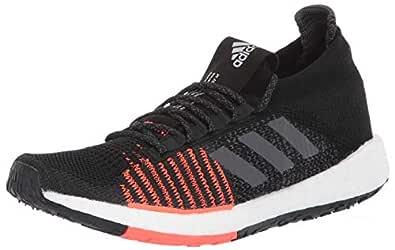 adidas Originals Men's PulseBOOST HD Running Shoe, Black/Grey/Solar Red, 4 M US