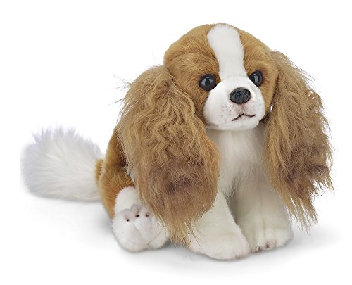 "Bearington Sadie King Charles Spaniel Plush Stuffed Animal Puppy Dog 13"" Cavalier King Toy"