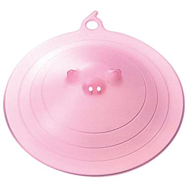 Marna Pink Piggy Microwave Plate Cover, 8.74