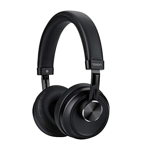 Bluetooth Headphones, Passive Noise Cancelling Headset, Wireless Headphones with Mic Deep Bass HiFi Stereo Headphones,Comfortable Protein Earmuffs for Cell Phones/ Tablets/ PC.