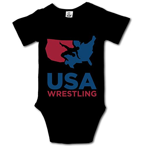 Shijingshan USA Wrestling Baby Onesies Boys Girls Bodysuit Newborn Infant Jumpsuit