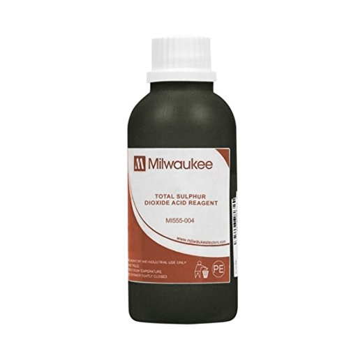 Milwaukee Instruments Mi555-004, Acid Reagent for Total SO2, 4x100ml, 8 Packs of 4 Bottles by Milwaukee