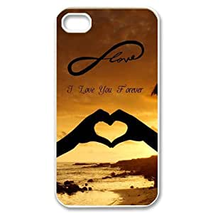 Love Forever Iphone 4 4S case,Infinity Love Iphone 4 4S case cover white at abcabcbig store