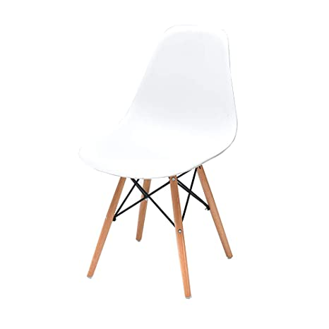 Amazon.com: QYJ-Dining chair Kitchen Chair White PP Leather ...