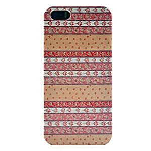 Leaves Pattern Plastic Protective Back Cover for iPhone 5/5S