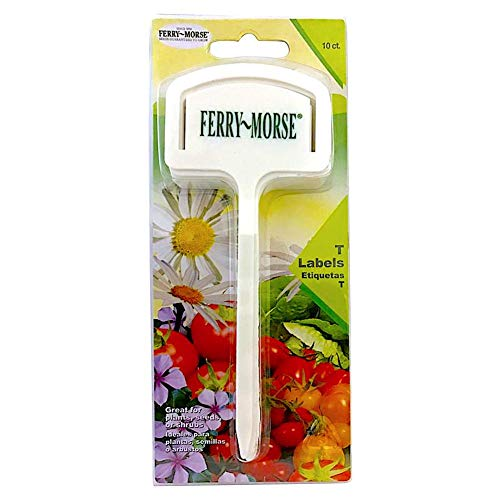 (Ferry-Morse T Label Plant Marker Labels with Seed Packet Note Holder Slot Clip  - 10 Count)