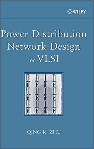 amazon power distribution network design for vlsi qing k zhu