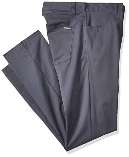Calvin Klein Men's Stretch Sateen Casual Pants Tornado 32W x 32L (Best Slim Fit Golf Pants)