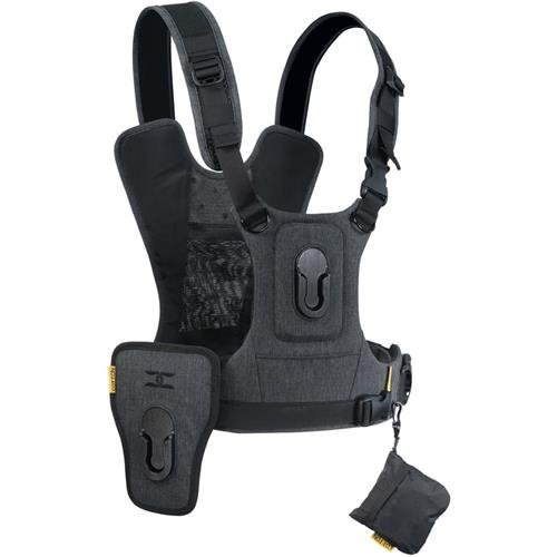 Cotton Carrier G3 Dual Camera Harness for 2 Camera's Gray by Cotton