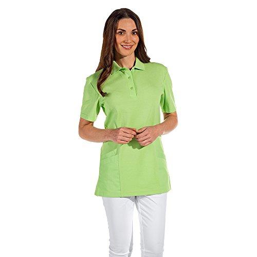 Leiber Women's Scrubs Polo Shirt/Top, 1/2 Sleeve, Colour: Light Green, Size: L