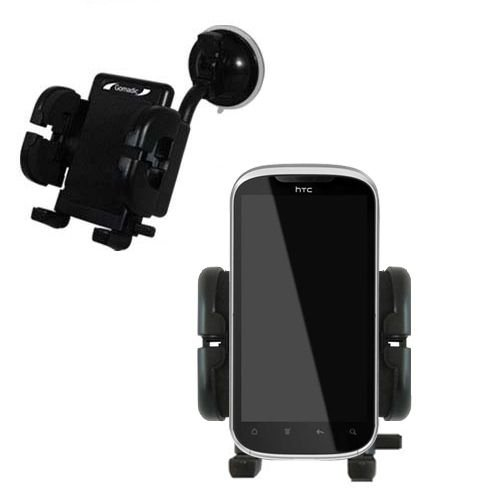 (Windshield Vehicle Mount Cradle suitable for the HTC Ruby - Flexible Gooseneck Holder with Suction Cup for Car / Auto. )