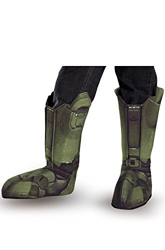 Disguise Men's Master Chief Adult Costume Boot Covers, Green, One Size ()