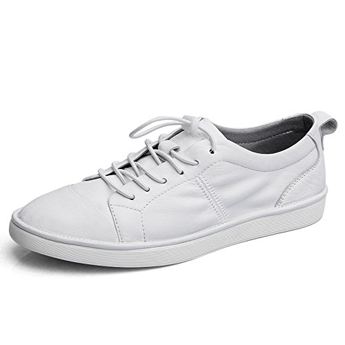 NBWE Chaussures en Cuir pour Hommes Chaussures Chaussures Occasionnels Chaussures d'été White