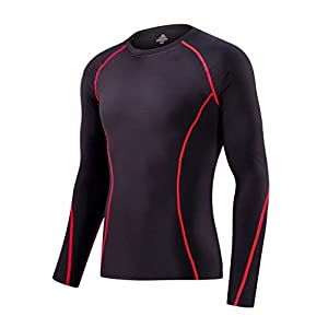 Ancmaple Athletic Compression Base Layers Shirts Sport Running Thermal Underwear