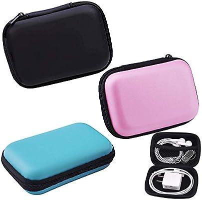 Headphone storage bag PU zipper EVA headset data line MP3//4 Portable package