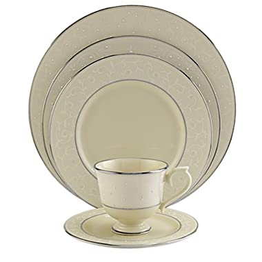 Lenox Pearl Innocence Platinum-Banded Fine China 5-Piece Place Setting, Service for 1