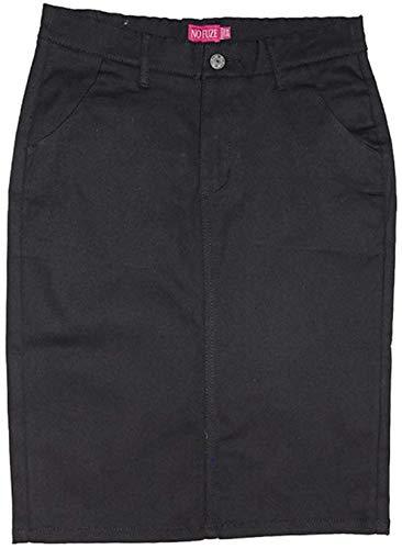 - No Fuze Women's Uniform 21 Inch Stretch Plus Size Twill Skirt (Run Small Please Order a Size Bigger) (22, Black)