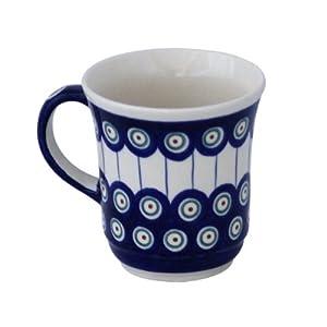 Boleslawiec Pottery Mug, 0.3 L, Original Bunzlauer Keramik, Decor 8